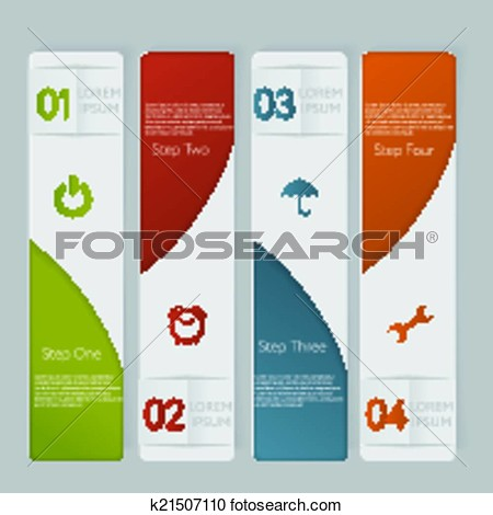Number Banners Clipart.