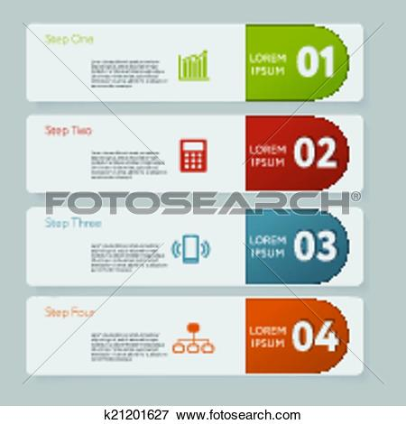 Clip Art of Infographic. Design number banners template graphic or.