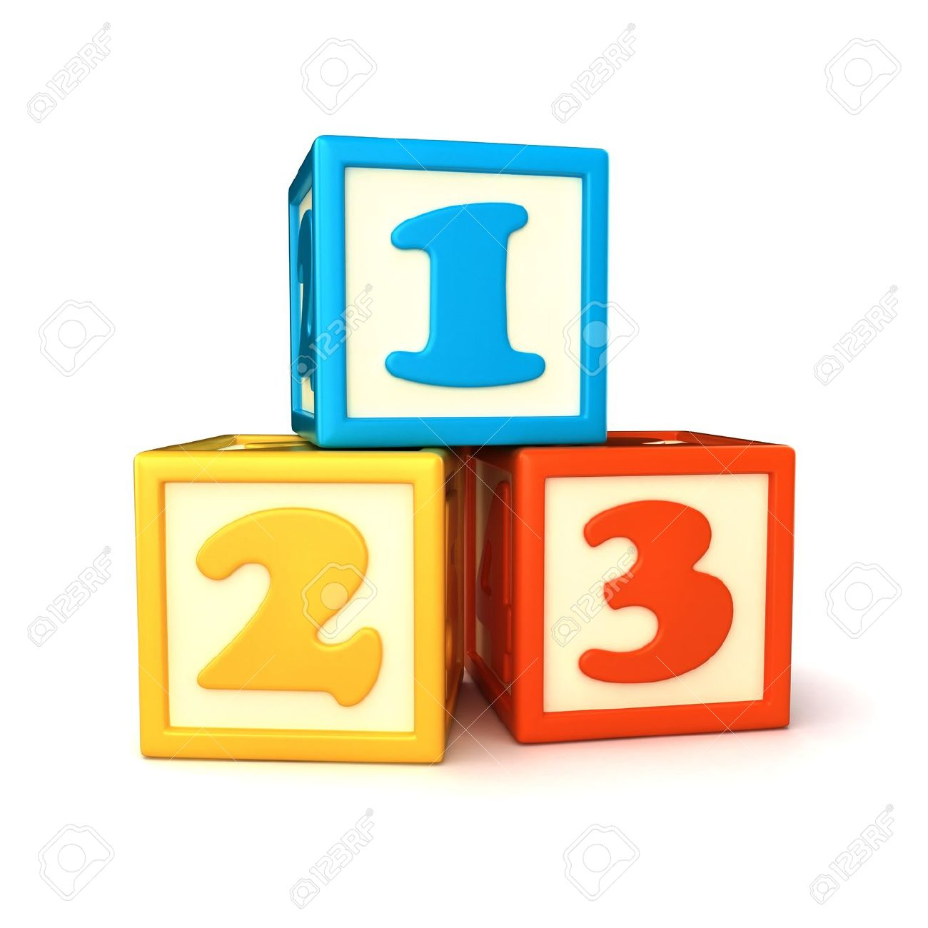 Number block clipart.