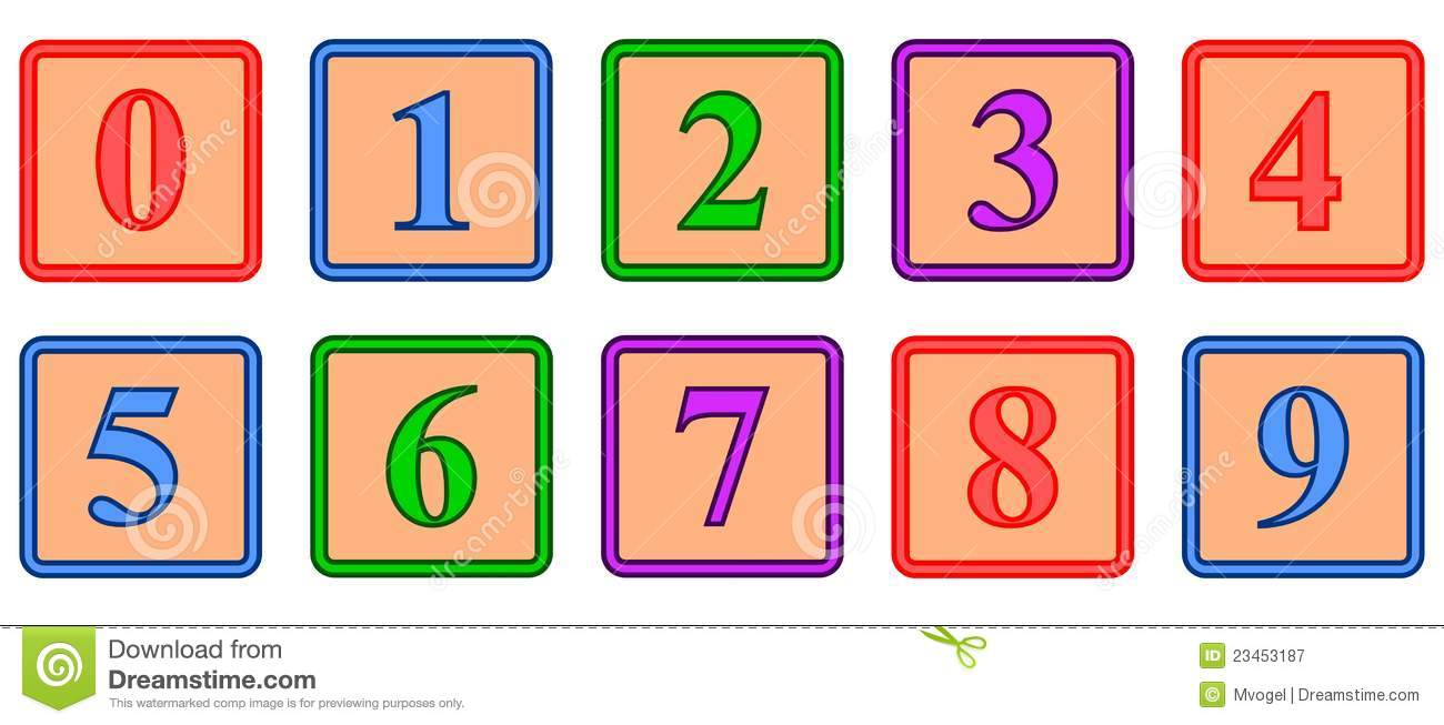 Number Blocks stock vector. Illustration of colored, eight.