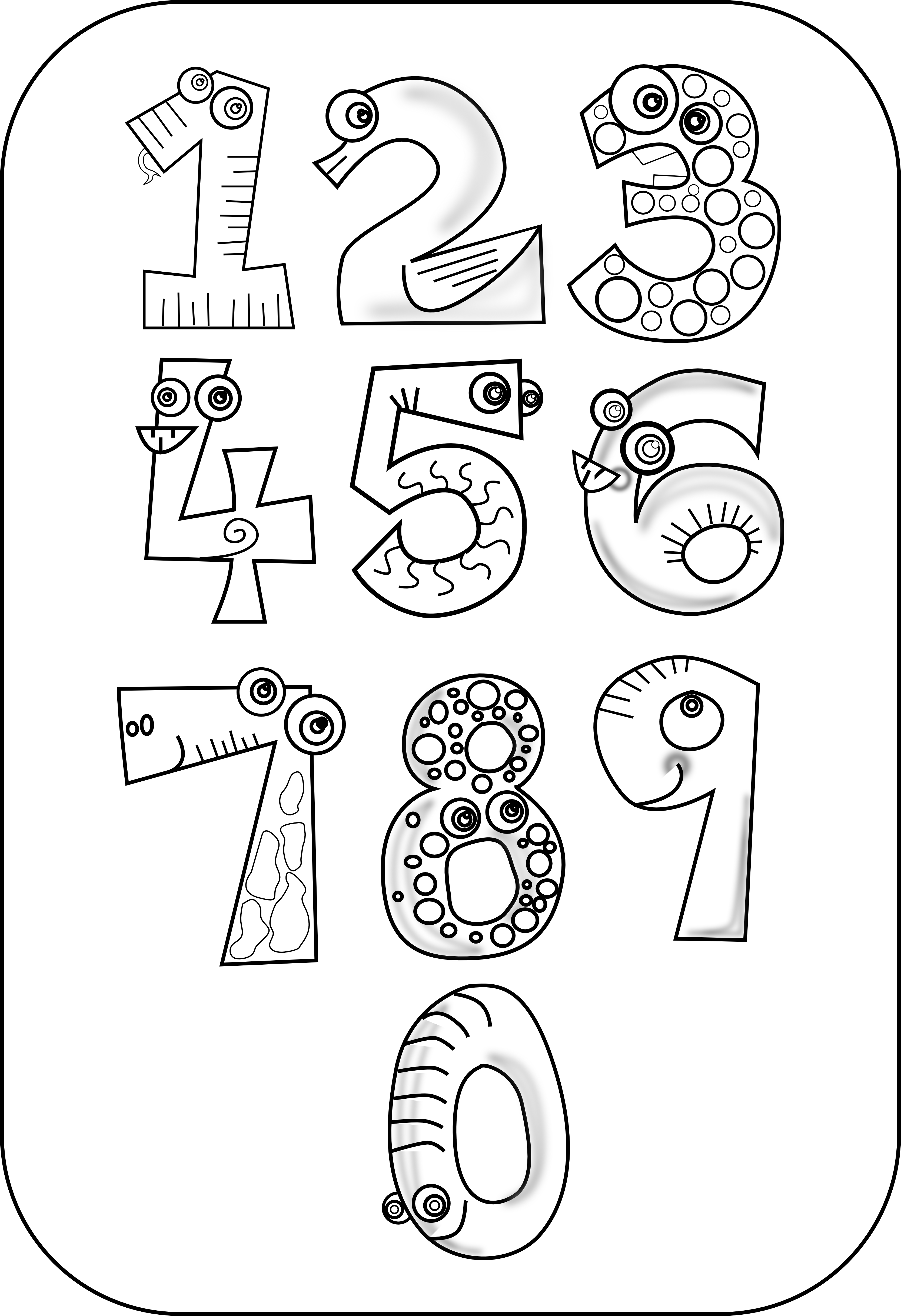 Number Clipart Black And White & Number Black And White Clip Art.