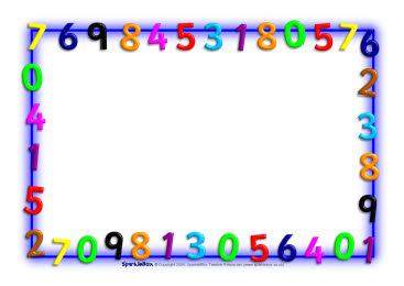 Numbers Border Cliparts.