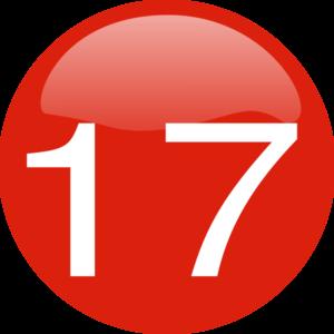 Number 17 Button Clip Art at Clker.com.