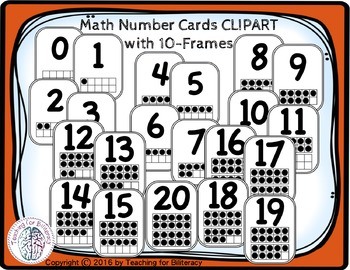 Math Number Cards 0.