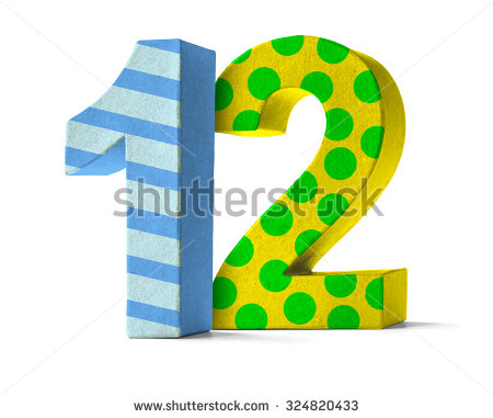 Number 12 Stock Images, Royalty.