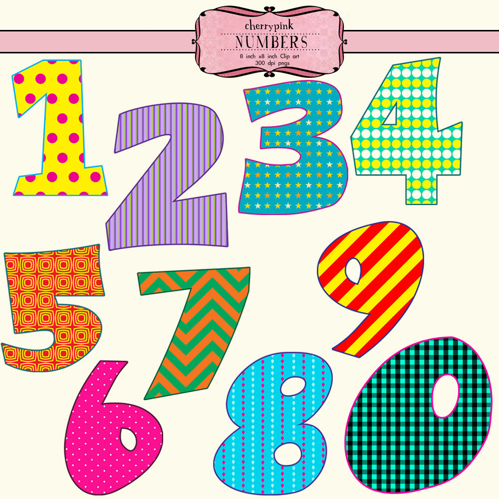 Number Clip Art Free.