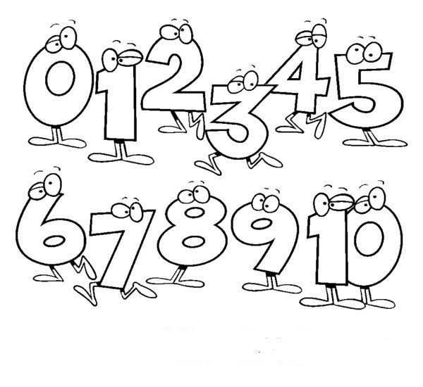 19+ Number Clipart Black And White.