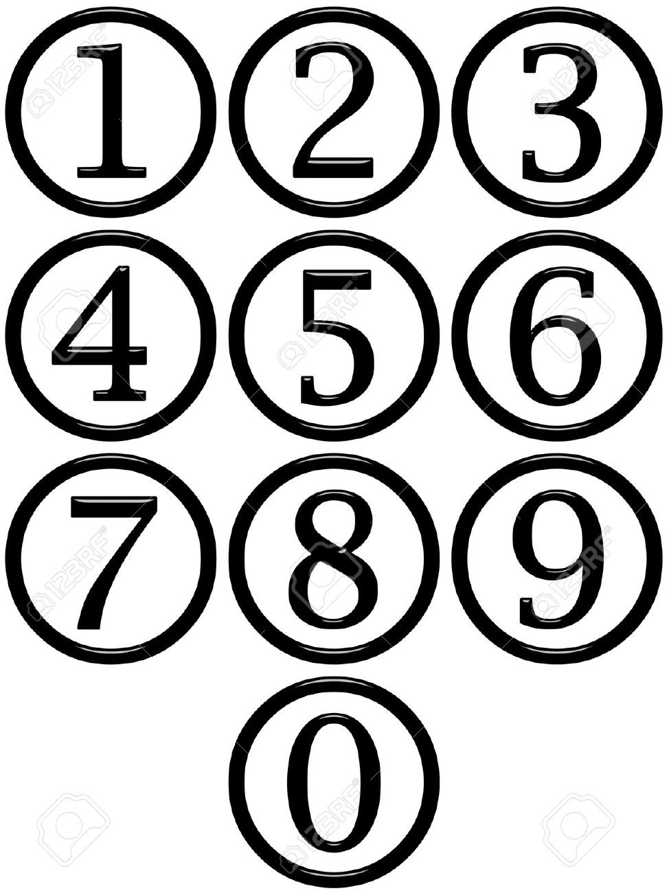 Number Clip Art Black And White.