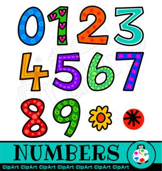 Doodle Number Clip Art.