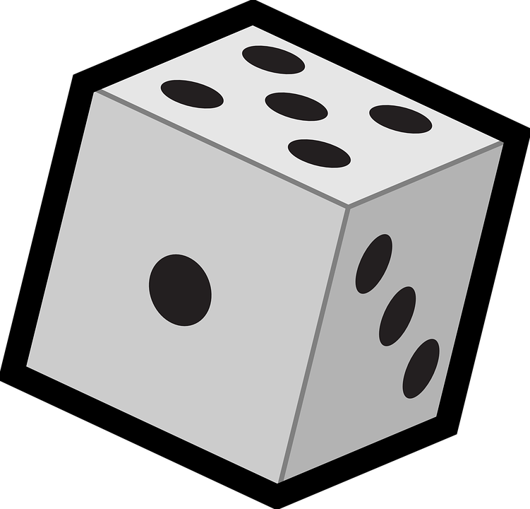 Free vector graphic: Dice, Six, Faces, Cube, Roll, Die.