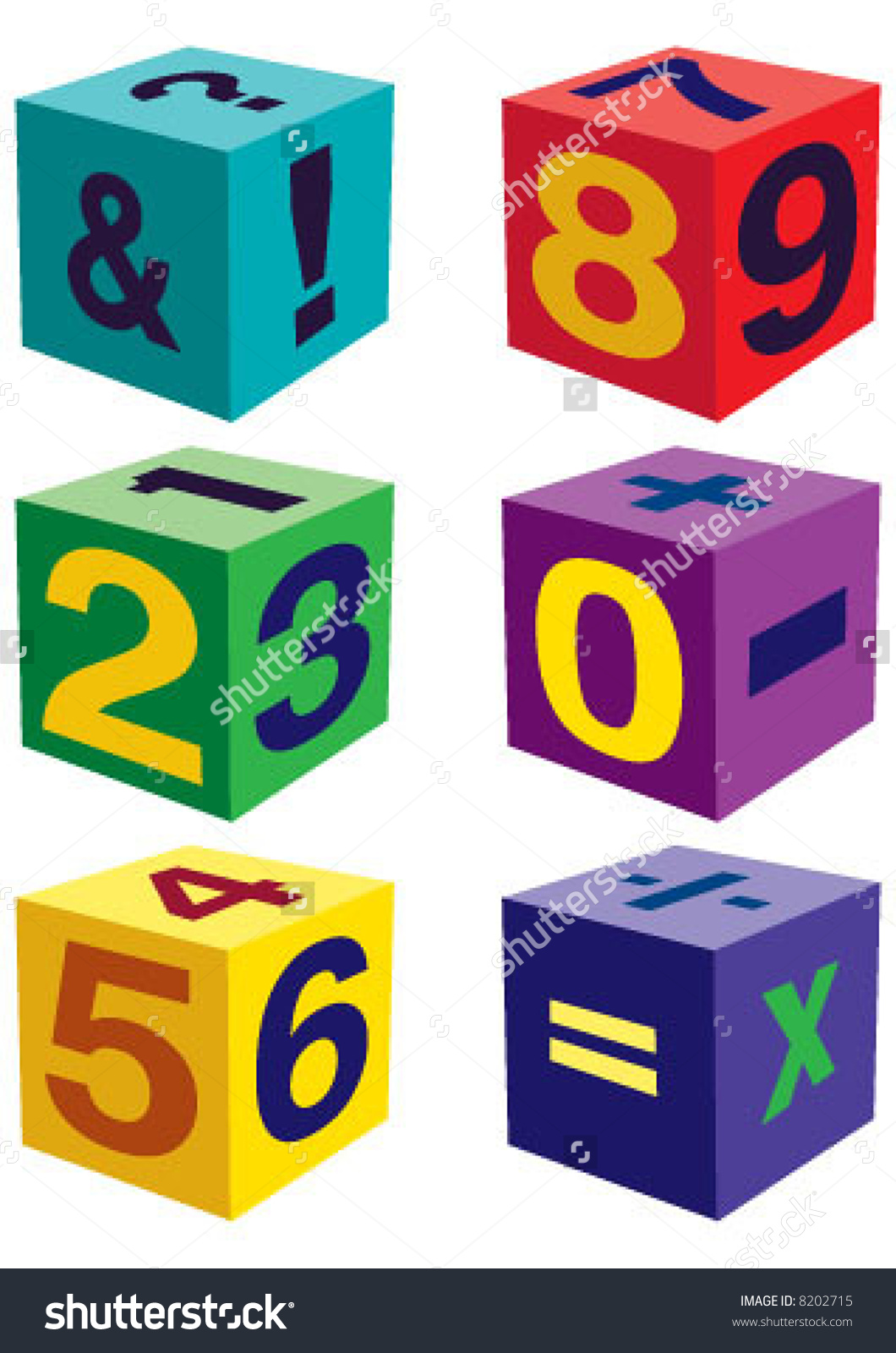 Number Toys In Cube Shape Stock Vector Illustration 8202715.