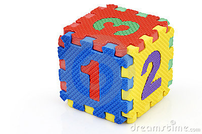 Number Cube Puzzle Stock Photos, Images, & Pictures.