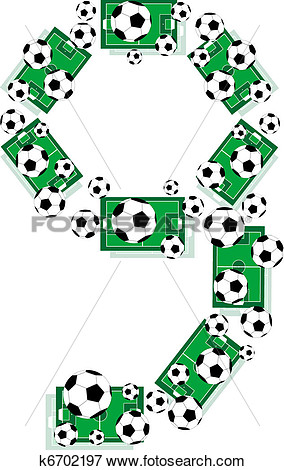 Football Field Numbers Clipart.