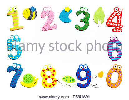 Illustration of a cartoon number 2 Stock Photo, Royalty Free Image.