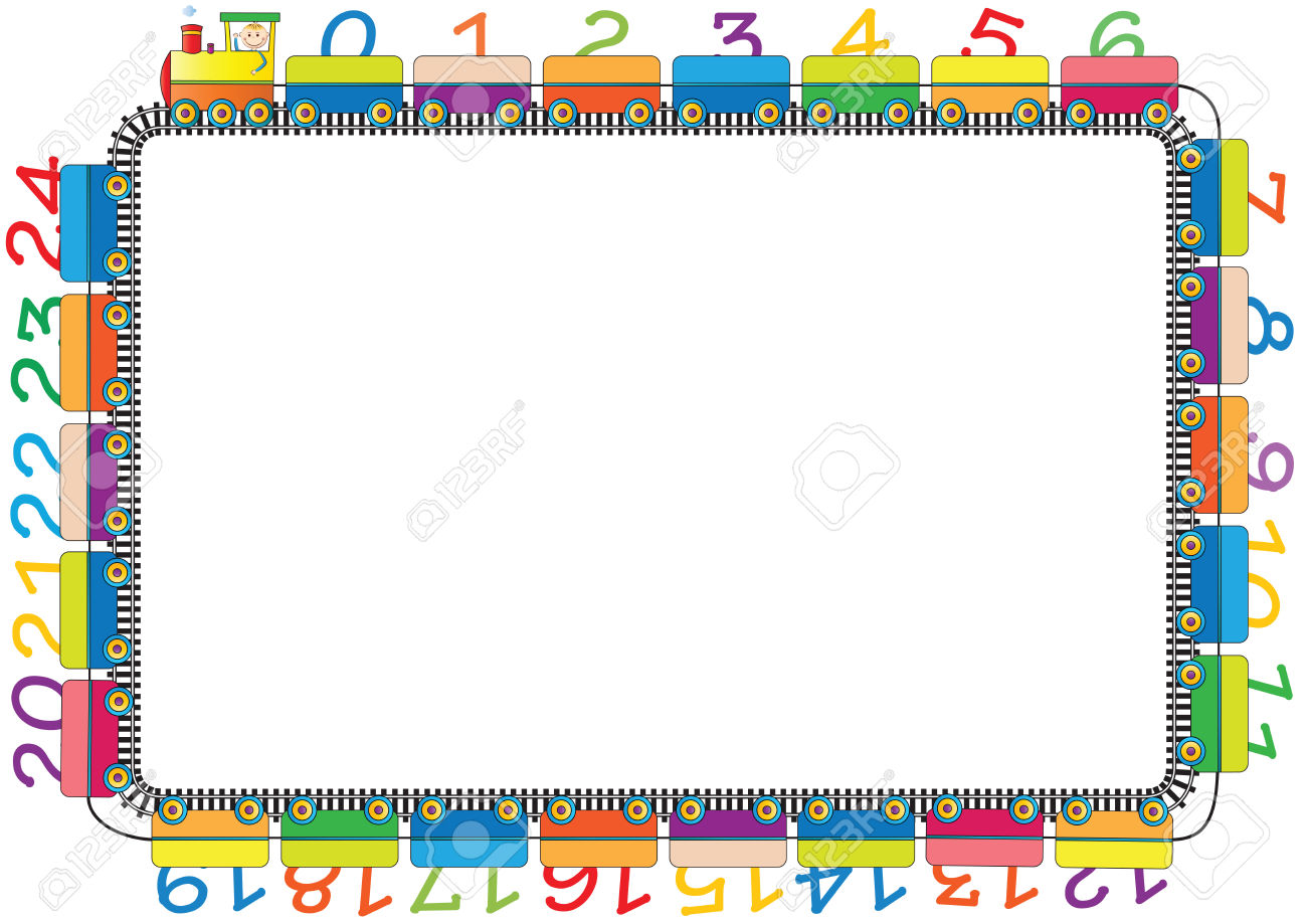 6,097 Number Border Stock Vector Illustration And Royalty Free.