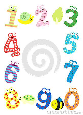 Funny Number Frame Royalty Free Stock Photo.