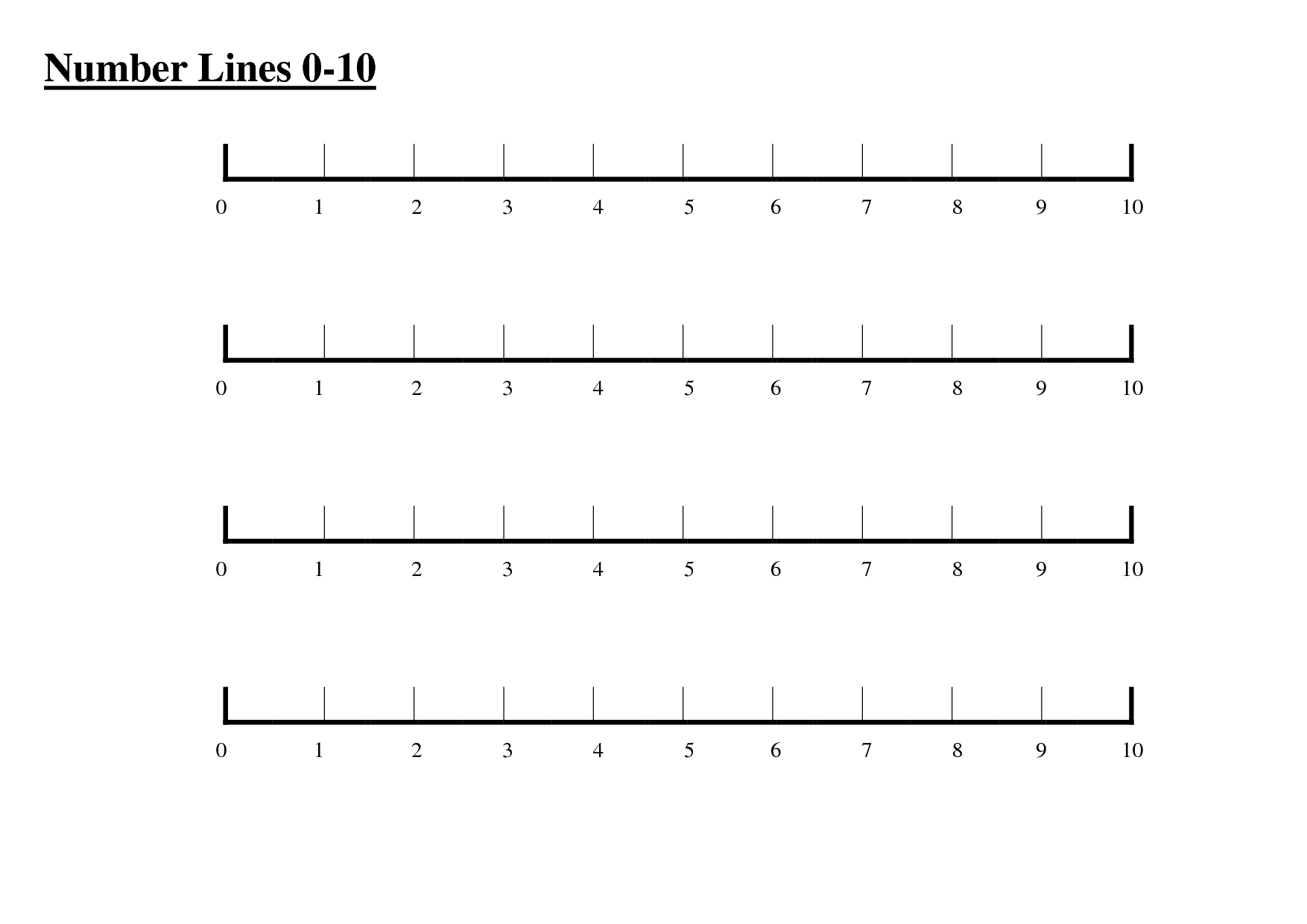 Free Number Line Clipart 0 20.