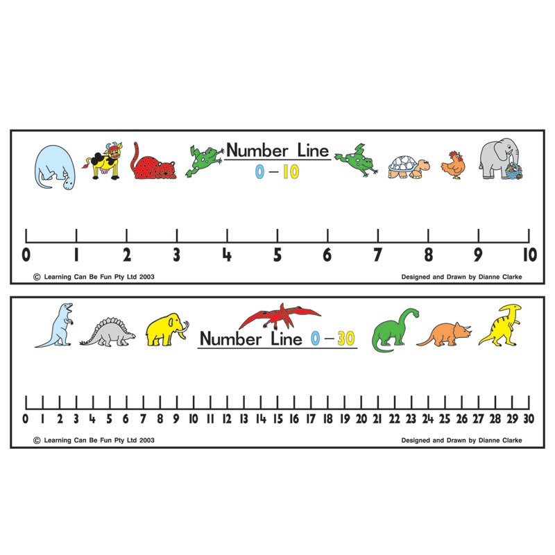 number line 0 to 30 clipart #2
