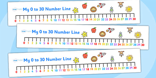 Number Line 0 To 30 Clipart.