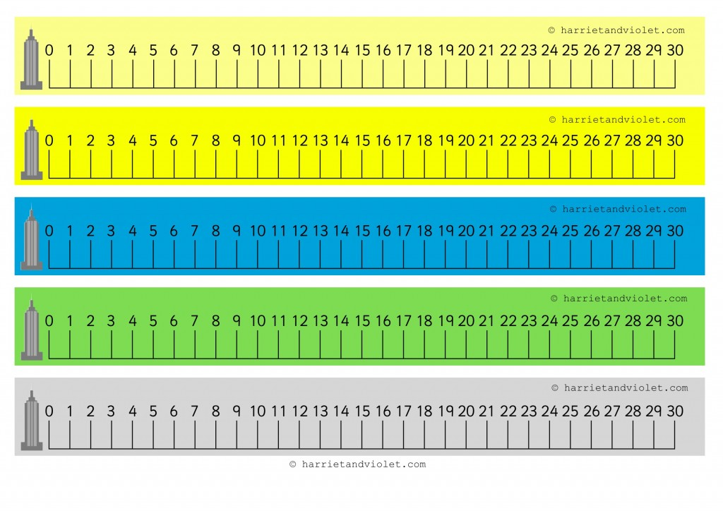 Juicy image for printable number line 1-30