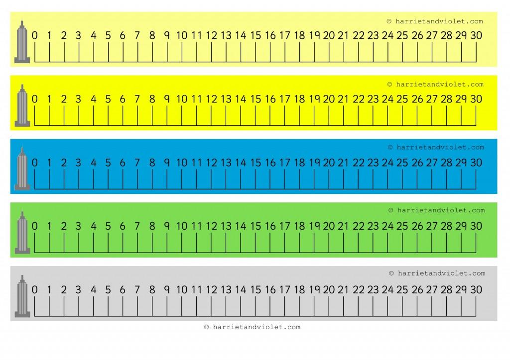 Number Lines Kostenlos