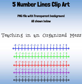 Teaching in an Organized Mess: Number Line Clip Art.