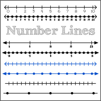 Integer Number Lines Clipart.