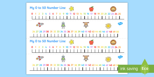 Number Line Clipart 0.