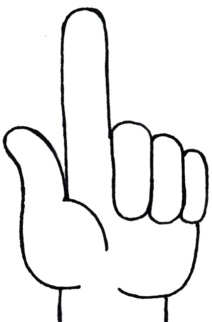 Free Number 1 Hand Cliparts, Download Free Clip Art, Free.