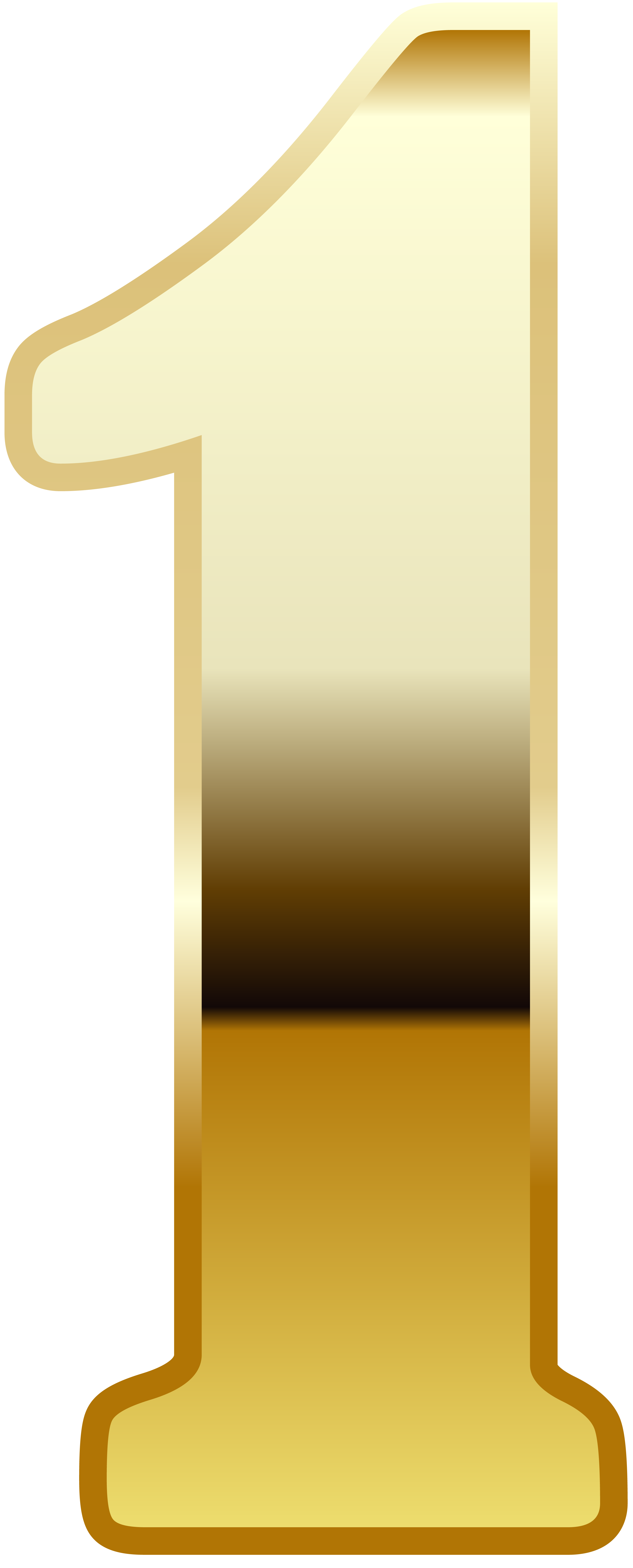 Gold Number One PNG Image.