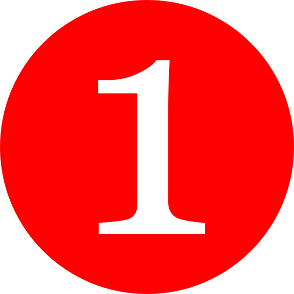 Number 1 PNG Transparent Clipart Image #10.
