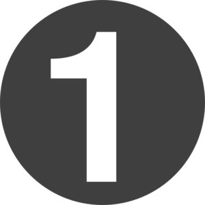 Number 1 png free download.