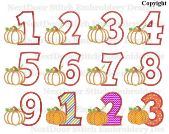 Thanksgiving embroidery appliuqe design, pumpkin machine.
