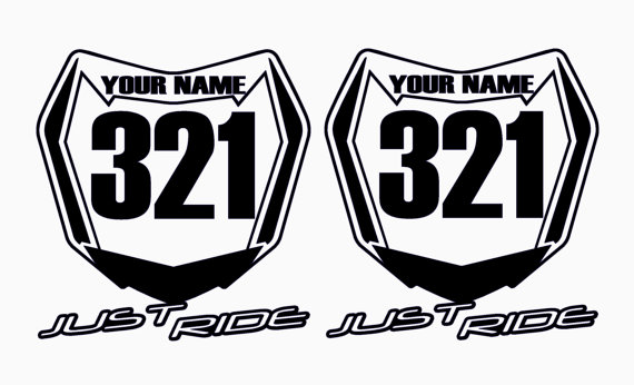 Supercross red number plate clipart.