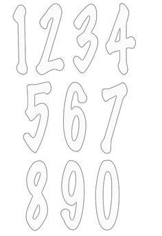 Large number stencils.