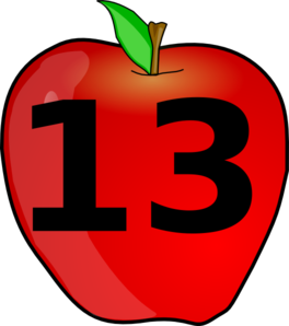 Number 13 Clipart.