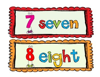 Number words clipart 4 » Clipart Portal.