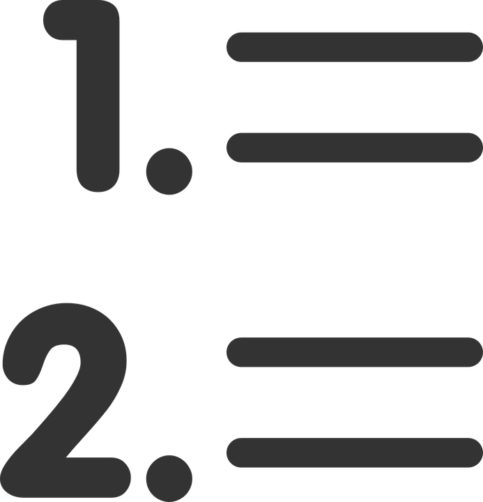 Free vector graphic: List, Numbered, First, Second.