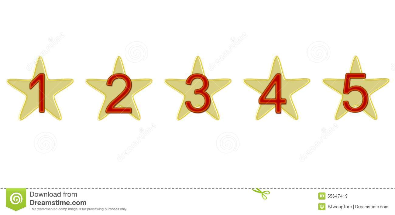Numbered Stars Clipart.