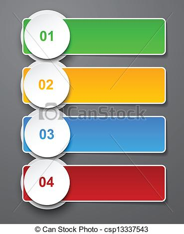 EPS Vector of Numbered list design..