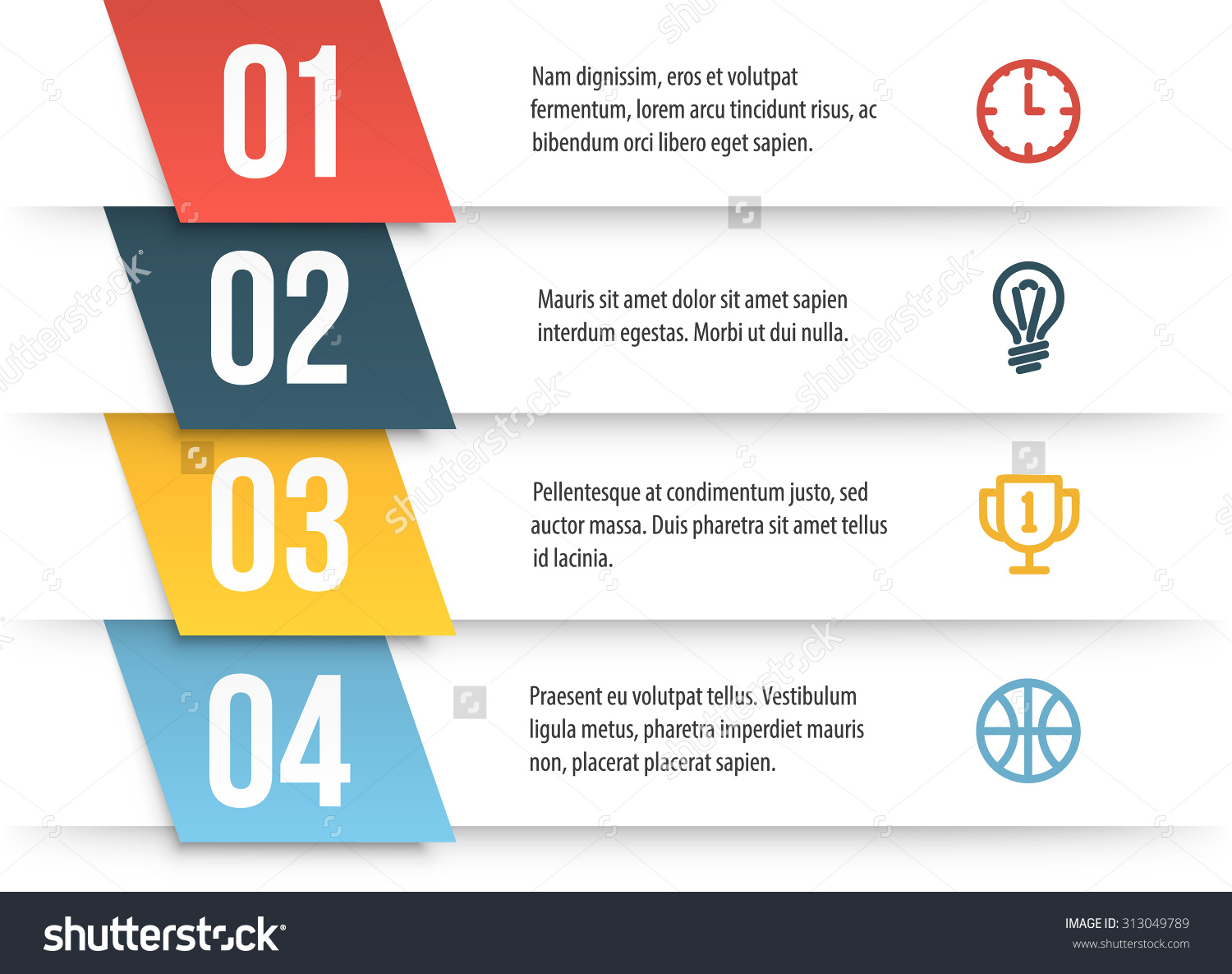 Simple Vector Numbered List Template On Stock Vector 313049789.