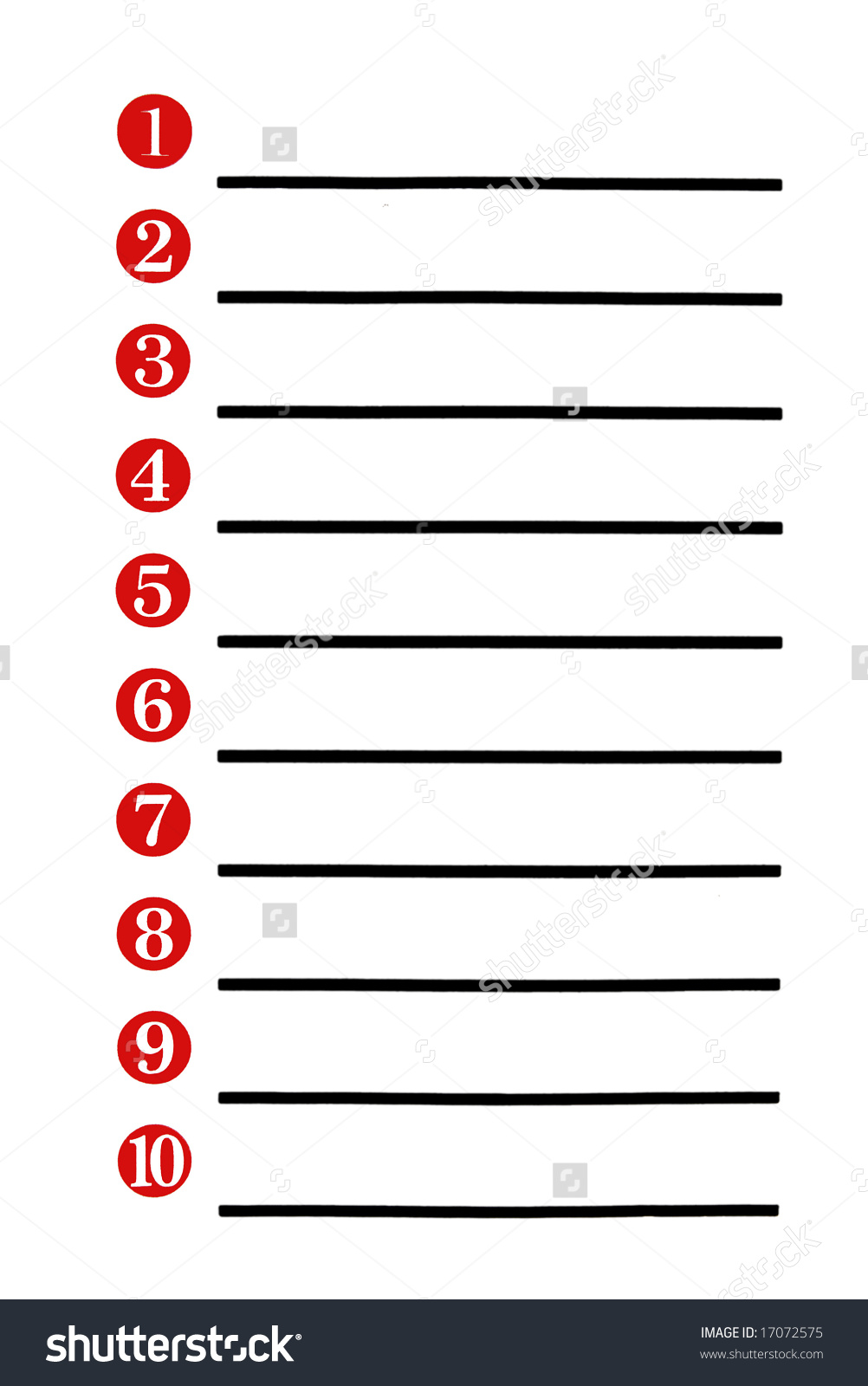 Numbered List Clipart.