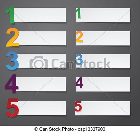 Vector Clipart of Numbered list design..