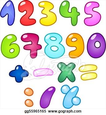 Fancy Numbers Clipart.