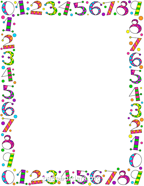 Number Border: Clip Art, Page Border, and Vector Graphics.