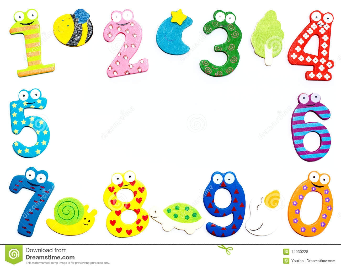 Numbers Border Clipart.