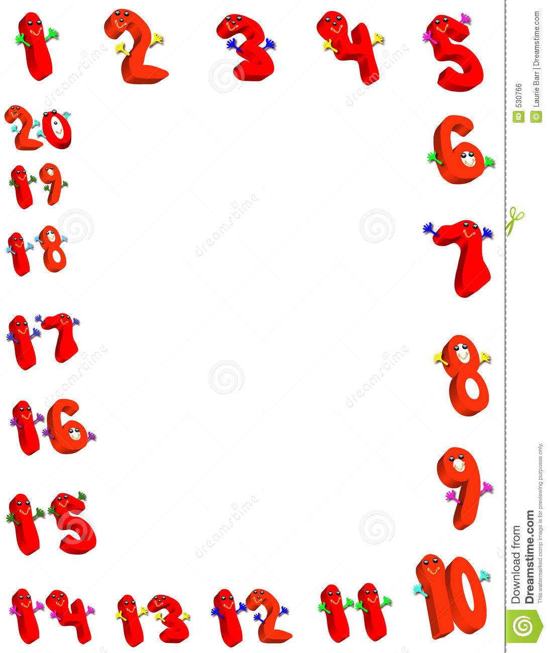 Number Border Clip Art Happy Number Border.