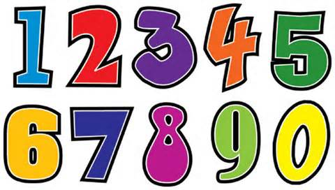 Numbers Clipart Free.