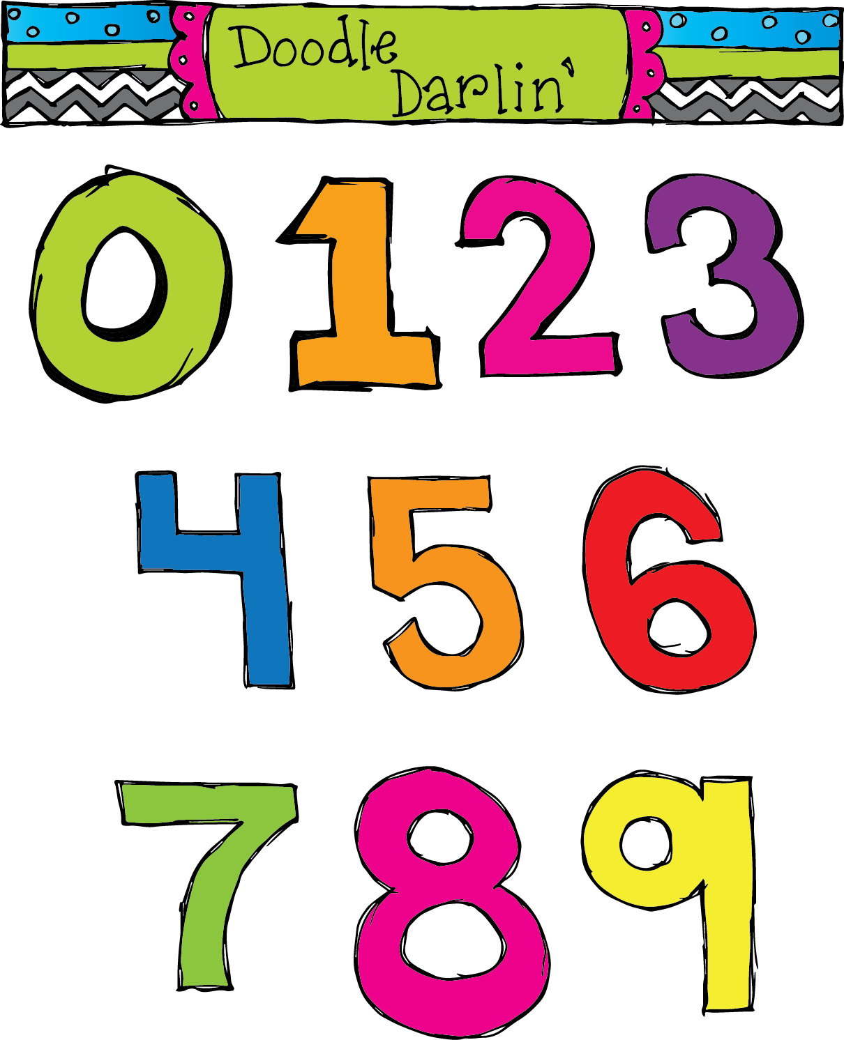 Numbers Clipart 0.