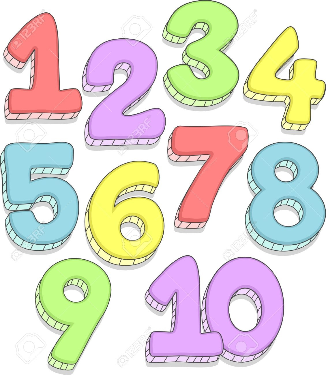 Numbers clipart 1 10.